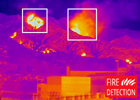 Thermal image of the fire detection