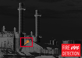 Thermal image - fire detection