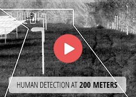 Human detection at 200 meters by thermal imaging camera