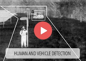 man and vehicle detection meters by thermal imaging camera